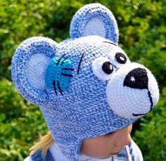 Детская прикольная шапочка медведь тедди купить смешные шапки зверошапки с ушками Магазин Смешапкия Россия Екатеринбург