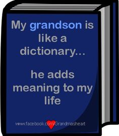 My Grandson Is Like A Dictionary...He Adds Meaning To My Life