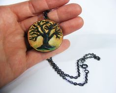 Handmade tree necklace