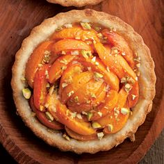 Apricot Tarts with Pistachios by Saveur