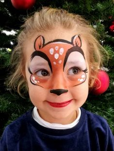 Miss Disguise  facepaint Bambi Christmas Deer follow my facebook