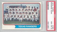 1974 Topps Baseball 184 Rangers Team PSA 8 Near-Mint to Mint by Topps. $6.00. This vintage card featuring Rangers Team is # 184 from the 1974 Topps Baseball set