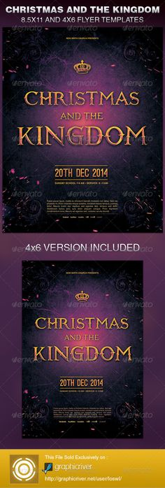 The Christmas and the Kingdom Church Flyer Template is sold exclusively on graphicriver, it can be used for your Church Events, Sermons, Gospel Concert etc, or for any other marketing projects.
