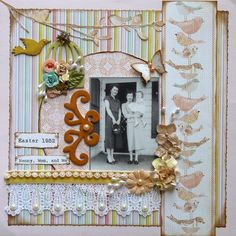 Easter 1955 - Scrapbook.com  Created by Ginger, repinned from Scrapbook.com ( on Pinterest)---Wendy Schultz onto Scrapbook Layout's.