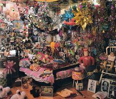 "gwengold: ""from Weird Rooms - Alexander Vertikoff, Mal and Sandra Sharpe, 1996 "" Room Ideas Bedroom, Bedroom Decor, Punk Bedroom, Hippy Room, Grunge Room, Indie Room, Pretty Room, Room Goals, Aesthetic Room Decor"