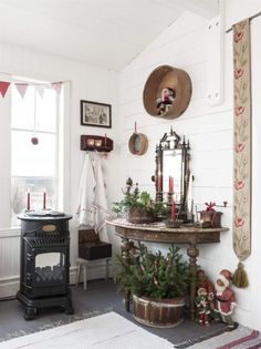Christmas in red and white