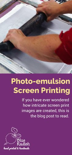How do screen printers get such intricate designs on the screen ready to print? This Blue Radish blog post tells you how. http://www.blueradish.com.au/photo-emulsion-screen-printing/