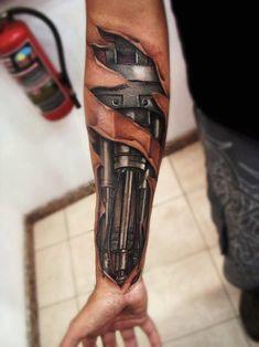 Piston Arm biomechanic tattoo