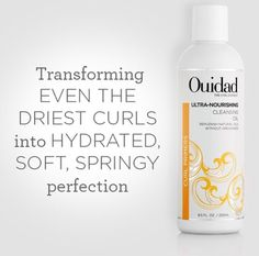 Ouidad's Cleansing Oil Shampoo is a total game changer. Check out @allure magazines article on how to use oils from head to toe. #curlyhair #ouidad #bestbeauty