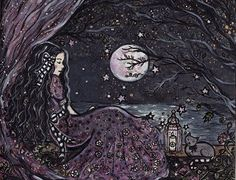 Claire de lune by ArtbyLadyViktoria on Etsy