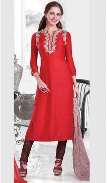 Red Color Silk Straight Cut Style Designer Readymade Salwar Kameez | FH513078107 #salwar, #kameez, #readymade, #anarkali, #patiala, #pakistani, #suits, #online, #stitched, #indian, #dress, #material, #shopping, #fashion, #boutique, #mode, @heenastyle , #designer , #pakistani , #evening , #wedding , #casual , #palazzo , #patiyala , #punjabi , #churidar , #narrow