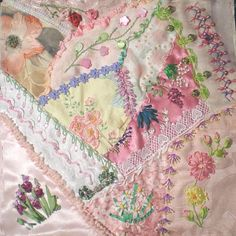 I ❤ crazy quilting & ribbon embroidery . . . Shabby chic ~By dianesm