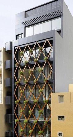 Architecture Drawing Discover cool desktop outlook - mimarlık ve inşaat Office Building Architecture, Building Exterior, Building Facade, Facade Architecture, Building Design, Office Buildings, Design Exterior, Facade Design, Modern Exterior
