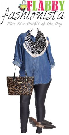 Plus Size Outfit of the Day – Chambray and Skinnies