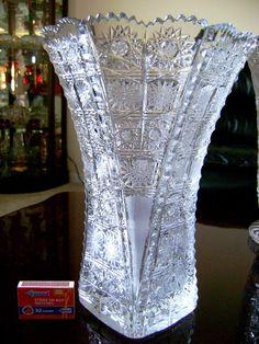 Antique Glassware, Crystal Glassware, Crystal Vase, Waterford Crystal, Cut Glass, Glass Vase, Bohemia Crystal, Blown Glass Art, Objet D'art