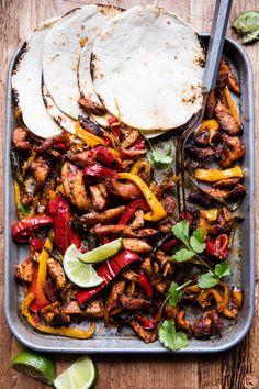 Sheet Pan Poblano Chicken Fajitas   halfbakedharvest.com @hbharvest