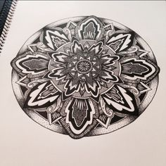 #mandala #zentangle #linework #inkdrawing #mandalatattoo #zenart #blackwork #stippling #symmetry #zen #zendala