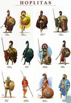 Hoplitas: Hoplites were citizen-soldiers of Ancient Greek city-states who were primarily armed with spears and shields. Hoplite soldiers utilized the phalanx formation in order to be effective in war with fewer soldiers. Greek History, Ancient History, European History, Ancient Aliens, American History, Art History, Military Art, Military History, Greek Mythology