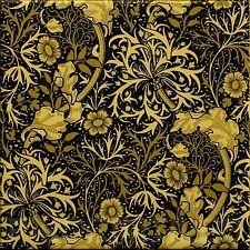Arts & Crafts  Morris 'Seaweed' Tiles Fireplace Kitchen Bathroom Black/Gold