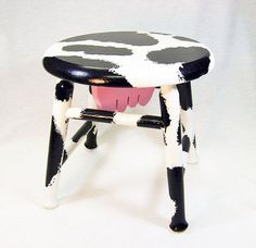 Footstool Cow Milking Stool home decor by GECKOWOODWORKING on Etsy, $65.00