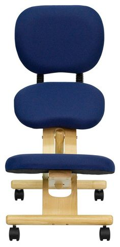 Flash Furniture Mobile Wooden Ergonomic Kneeling Posture Chair in Navy Blue Fabric with Reclining Back Bath Chair For Elderly, Office Stool, Ergonomic Kneeling Chair, Cheap Office Chairs, Blue Dining Room Chairs, Beach Chairs, Leather Chair With Ottoman, Comfortable Office Chair, Adirondack Chairs For Sale