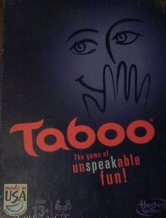 Taboo - The game of unspeakable fun! Card Game  -  Family Time - Game Night