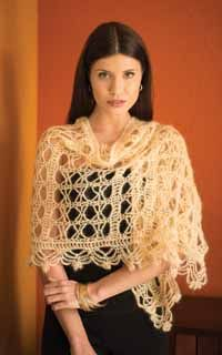 Golden Grace Wrap Digital Crochet Pattern - featured in Love of Crochet magazine's Winter 2014 Issue