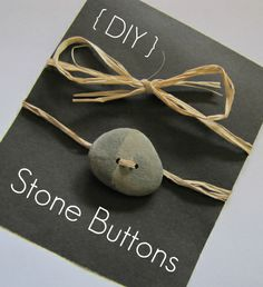 The Haby Goddess: Making your own beach stone buttons