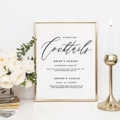 This cocktail/bar sign template is ready to be downloaded, edited and printed…perfect for a savvy, style-conscious bride or groom. Purchase this listing to INSTANTLY download your template(s) and get started straight away! . . . . . . . . . . . . . . . . . . . . . . . . . . . . . . . .