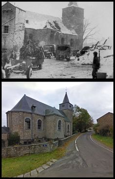 L'equipaggio di un cannone anticarro americano nella  neo liberata città belga di Dochamps  #Gennaio1945