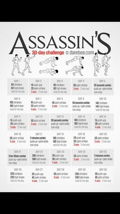 Assassin's creed 30 day workout #stayfit