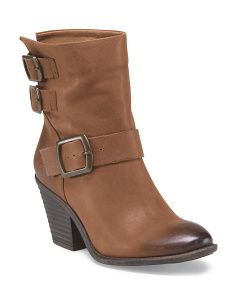 image of Leather Tommie Buckle Bootie