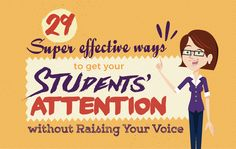 29 Super Effective Ways to get Your Students' Attention Without Ever Raising Your Voice || Powtoon