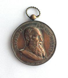 Bronze large medal Leopold II 1905 от ScroogeShop на Etsy