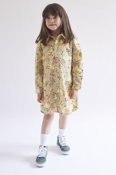"Sierra shirtdress Wildkind Kids ""Hippie Ever After"". One Drop, Ever After, Cute Kids, Camouflage, Work Wear, High Fashion, Organic Cotton, Kids Shop, Shirt Dress"