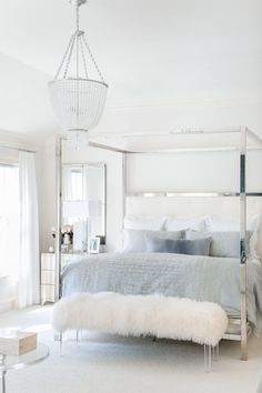 Did you notice the gorgeous mongolian lamb bench at the end of my bed in my Master Bedroom Reveal? It was a custom piece from Dallas-based Parker & Hyde. Classic Bedroom Furniture, Custom Furniture, Furniture Chairs, Furniture Market, Furniture Layout, Furniture Sets, Room Ideas Bedroom, Home Decor Bedroom, Dream Bedroom