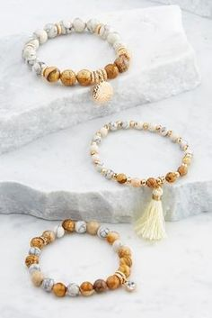 Versona beaded stretch bracelet set #Versona