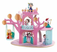 Princess Tree House by Arty Toys Djeco – Little Citizens Boutique Toys For Girls, Kids Toys, Arty Toys, Best Educational Toys, Princess Castle, Paper Dolls, Wooden Toys, Toy Chest, Action Figures