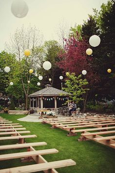Goddamnit, where was this wedding bench idea when I was DESPERATELY searching for a non-ugly chair solution?!