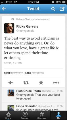 Ricky Gervais quote.