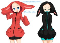 Base 11: Bunny Hoodies by BlueberryBubblegumXD on DeviantArt