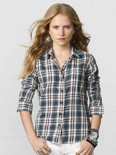Ralph Lauren Denim & Supply Monroe Plaid Tomboy Shirt Price: $69.50