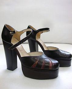 Vintage  60s - 70s  platform shoes.