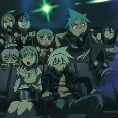 Love how soul and Maka are sitting together