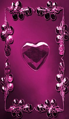 By Artist Unknown. Bling Wallpaper, Heart Wallpaper, Purple Wallpaper, Cellphone Wallpaper, Wallpaper Backgrounds, Iphone Wallpaper, Love Wallpapers Romantic, Hd Cool Wallpapers, Beautiful Flowers Wallpapers