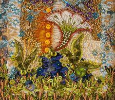 """""""Keith's Garden"""" detail of an art quilt by Nancy Smeltzer http://www.fiberfantasies.com/"""