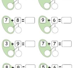 Adding 2 digit numbers using number bonds to 10 Number Bonds To 20, Number Bonds Worksheets, First Grade Math Worksheets, First Grade Addition, Math Addition, Addition And Subtraction, First Grade Classroom, 1st Grade Math, Maths Puzzles