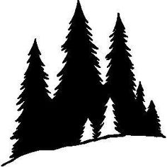 Pine tree woods clipart black and white. by Clipground Pine tree woods clipart black and white. Tree Silhouette Tattoo, Pine Tree Silhouette, Forest Silhouette, Silhouette Clip Art, Silhouette Cutter, Kiefer Silhouette, Tree Sillouette, Silhouettes, Tree Outline