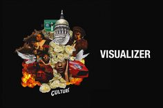 Migos ad-lib visualiser for 'Culture'  album. Ad-libs from Quavo, Offset and Takeoff with pigeon, chicken, gun and money sounds from Migos.