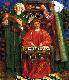 A Christmas Carol - Dante Gabriel Rossetti, 1857